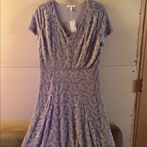 Maurice's lilac lace dress